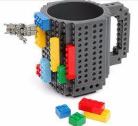 Bricolaje creativo Tazas de ladrillo Lego Pixel Mega Bloques KRE-O Ladrillos compatibles K'NEX Cartoon Bebida de café Copa Drinkware Juguetes educativos