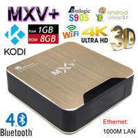 Wholesale 2016 Newest K Android TV Box MXV Amlogic S905 Quad Core G G MXV Plus Smart Mini PC Bluetooth M Wifi H D Media Player Kodi