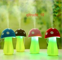 aroma lamp oil - 50 BBA5283 Mini Mushroom Lamp Humidifier Aroma V USB LED Air Purifier Atomizer Diffuser Home Room Essential Oil Electric Car Aroma Diffuser