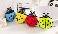 Wholesale strong chuck toothbrush toothpaste Creative lady beetle toothbrush rack Cartoon animal tooth brush holderQ15061806