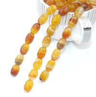 Wholesale New Natural Agate Striped Wave Oval Loose Beads MM Fine Jewelry High Quality for