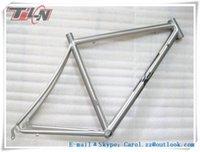 Wholesale Hot selling C OEM fixed gear frame titanium bike frame with hand brushing