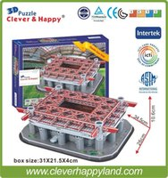 Wholesale 2014 New clever happy D Puzzle Model Stadio San Siro Stadium Giuseppe Meazza AC Milan FC Club Home