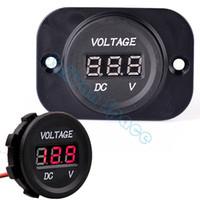 Wholesale 2014 New Automobile Motorcycle DC V to V LED Digital Outlet Plug Voltmeter Socket SV07 SV007102