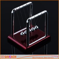 Wholesale Early Fun Development Educational Desk Toy Gift Newtons Cradle Steel Balance Ball Physics Science Pendulum