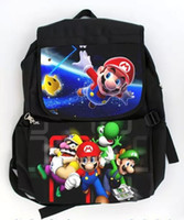 Wholesale 2016 New arrival Mario school bags Super Mary school bags cartoon children backpacks backpack ETB19