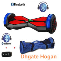 electric remote - Bluetooth Self Balancing Electric Scooter Two Balance Wheels inch with Remote Control Key mah lithium battery with LED light Carry bag
