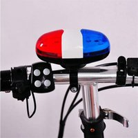 Wholesale 2014 Brand Outdoor sports Cycling Trumpet LED Light Sounds Bicycle Bike Horn Bell
