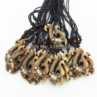 Wholesale Hot Jewelry Hand Carved Maori Fishhook Hawaiian Surfer Sea Turtles Pendant Necklace Lucky Gift MN363