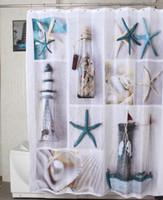 Wholesale NEW ARRIVAL Polyester terylene seastar shell waterproof shower curtain thicken curtain bathroom curtain cm cm