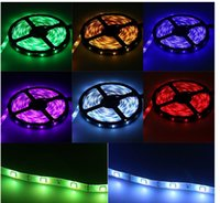 Wholesale IP65 Waterproof LED Strip M SMD5050 RGB LED Strip Light Key IR Controller control Box Power Supply hk88 Best Selling