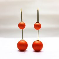 Wholesale 2015 NEW design fashion brand elegant jewelry stud earring double pearl EARINGS channel CC Statement long earring for women Gifts for girls
