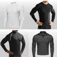 under-armour - Retail Compression armour Base Layer Thermal Under Sport T shirt long sleeve tights clothes for men t shirts Breathable Tops HX