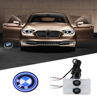 auto drill - 2pcs Led Auto Logo Emblem Laser Lamp LED Car Door Step Ghost Shadow Welcome Projector Light Lamp for bmw Dedicated no drilling W V