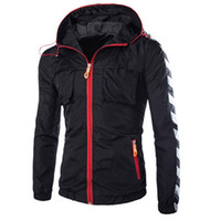 mens sport coats - Nylon Hooded Mens Windbreaker Jacket Waterproof Outdoor Sport Men Coat Zipper Cardigan Thin Hunting Clothing Fashion