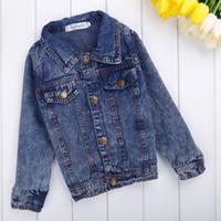 Wholesale Brand New Children Clothing Spring Auttum meninos jeans jacket kids Clothes Fashion Children outerwear Coats meninas SV015053