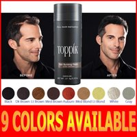 salon product - Toppik Colors Hot Sale Salon Hair Loss Product Men Women Hair Fibers Thin hair treatment g