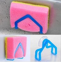 Wholesale New Convenient Sponge Holder Suction Cup Sink Holder Kitchen Gadget Decor TY1703
