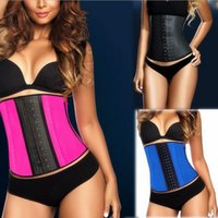 latex corset - XS XL Colors Women Latex Rubber Waist Training Cincher Waist Training Belt Kim Underbust Corset Body Shaper Shapewear