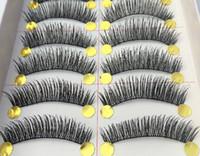 Wholesale Taiwan pure manual false eyelash Thick encryption The simulation Black cotton stalk eyelashes box pairs
