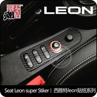 area film - Exterior Accessories Car Stickers The carbon fiber car stickers of the central button area for seat leon cupra