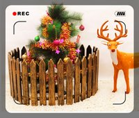 Wholesale Christmas fence Simulation of plastic white wooden fence Christmas decorations Props assembled fence products