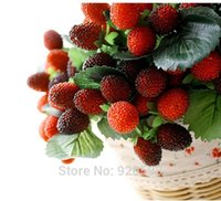Cheap free shipping 9 fruit decoration flower artificial fruit paddle strawberry photo props Artificial plant