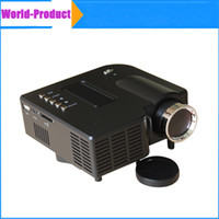 Wholesale Mini Portjectors UC28 LED Home Theater Video Projector PC Laptop VGA USB SD AV with retail package