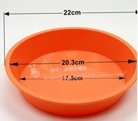 Wholesale 2 silicone round shaped Silicone pie plate cake pans baking pans