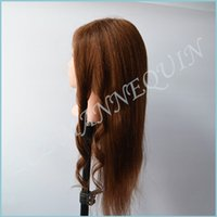 Wholesale ZCZ New Arrival Maniqui Mannequin Head With Hair Natural Hair Training Head With Hair With Free Clamp MT013