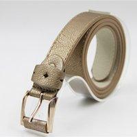 belt buckles khaki - Fashion Khaki Waist Belt for Women Luxury cm PU Leather Waist Strap Girls Gold Needle Buckle Waist Belt OD3010