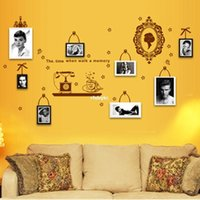backdrop outlet - Wall stickers home decoration Factory outlets Foreign selling photo wall composite wall stickers living room backdrop stickers AY6033 vanit