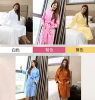 Wholesale women s Bathrobes Bathrobes terry toweled cotton thickening autumn and winter lovers bathrobe robe hot selling