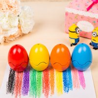 Wholesale Creative Egg Crayon Colorful Crayon Children Toys Non toxic No hands Washed Early childhood educational Toys For