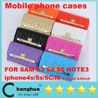 Wholesale Luxury glitter leather women handbag wallet case for Samsung Galaxy S3 S4 S5 NOTE3 iphone4s s C i6