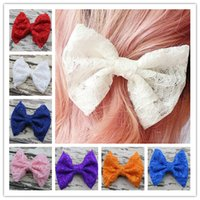 Cheap lace hair bow Best Woman Hair Accessories Champagne Lace b