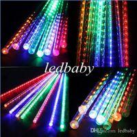 Wholesale Newest cm Festival Decoration Colorful LED Meteor Rain Lights for Christmas Party
