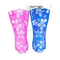 Wholesale 2PC Eco Friendly Portable Foldable Flower PVC Plastic Durable Vase Home Wedding Party Decorations