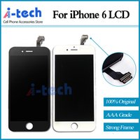 Wholesale 4 inch Original AAA For Apple iPhone LCD Display with Touch Screen Digitizer Assembly Black or White Free DHL Shipping