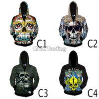 Wholesale 2016 New Cool Skeleton D Men Hoodies Spring And Autumn Men D Sweatshirt With Hat Hip hop Long Sleeve