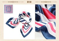 Wholesale Hot selling Fashion Printing Small Square Scarf Muffler Hotel Office Workwear Scarves Small Silk Satin Scarves
