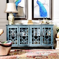 Wholesale Brand Group odd ranks yield COMSTAR heightening bedroom TV cabinet entrance cabinet sideboard blue h