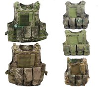 airsoft vest - New Color D USMC Military Tactical Airsoft Molle Combat Assault Plate Carrier Vest camouflage