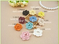 Wholesale IKEA pic cotton knitted flowers for as parches de flores patches for clothing iron sew on patches applique