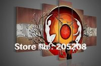 Cheap Framed 5 Panel Huge Wall Canvas Art Modern Oil Painting Abstract for Living Room Decoration XD00259