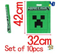 bags candy wrap - Minecraft Gift wrapping Bag Party Supplies Minecraft Creeper Tote Bag Birthday Party Candy Bag Poly Gift Bag Handbag
