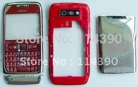 e71 red - Red faceplate housing cover case keypad keyboard fit for Nokia E71