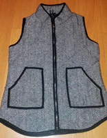 Wholesale Women s cotton Herringbone Vest Europe and the United States women s vest outside the single word grain cotton black Herringbone vest