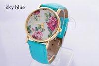 Wholesale GENEVA Watch New Arrival Summer Women Fashion Watches Imitation Leather Quartz Watches Crystal wristwatch orologio New