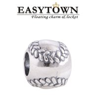 Wholesale 2016 silver baseball new charm beads fit European pandora Bracelet Bangle for DIY jewelry